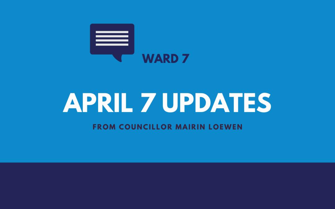 April 7 Updates