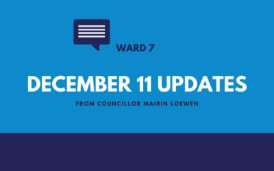 December 11 Updates